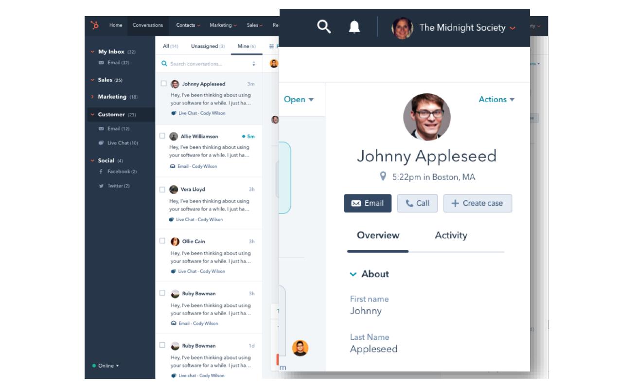 Hubspot customer hub funcionalidades